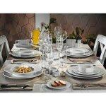 Sekély tányér 210 mm, porcelán, Bremen modell, Mitterteich