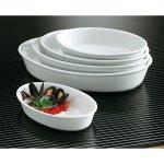 Kis sütőtál, ovális forma 25x16 cm, porcelán, Cook, Tognana