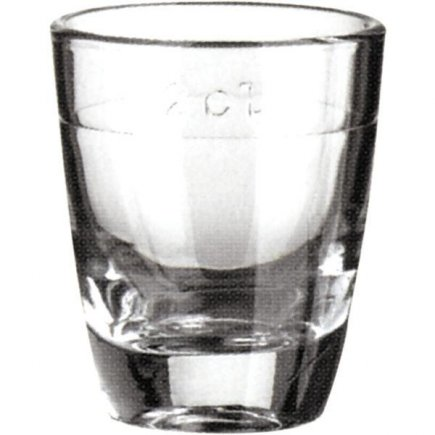 Pálinkás pohár 3 cl, mérce 2 cl Gin, Arcoroc