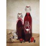 Pálinkás üveg 0,75 l, 10-szögletes, csat zár, Gastro