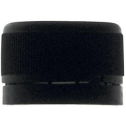 Csavarós kupak fekete, biztonsági gyűrű