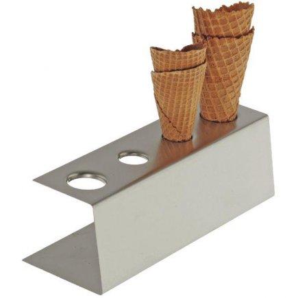 Rozsdamentes fagylalt tartó állvány APS, 4 nyílás
