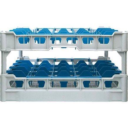 Pohármosogató kosár 25 db pohárra, 91x91 mm, poharakra ilios sz.1 - 222298000,222298001, Kit - Fries polcrendszer