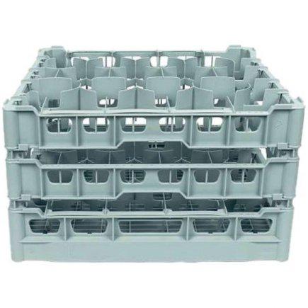 Pohármosogató kosár, nagyság 500x500 mm, nyílás 99x99 mm 20 db pohárra