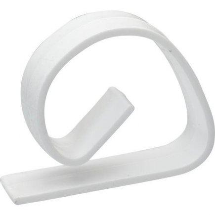 Műanyag asztalterítő csipesz leszorító Gastro, fehér