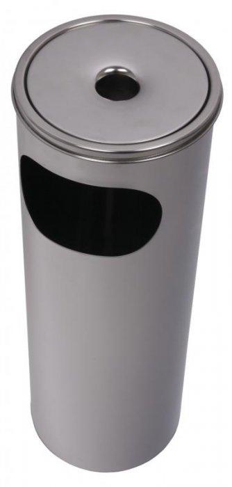 Hamutartó és szemetes kosár, kültéri, rozsdamente 58 cm