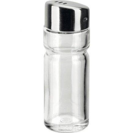 Univerzális sótartó vagy fűszertartó, üveg és nemes acél, 3 nyílás, APS