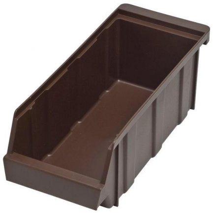 Műanyag evőeszköz tartó, 305x125x110, barna, Cambro