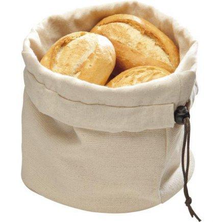 Tálaló péksütemény, tojás  táska, világos, pamut, mikrósütőben melegíthető, APS