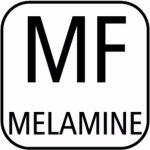 Felszolgáló tálca tégla alakú APS melamin GN 1/2, melamin, fekete