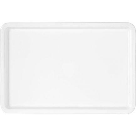 Műanyag tálca 45x30 cm fehér, M-plast