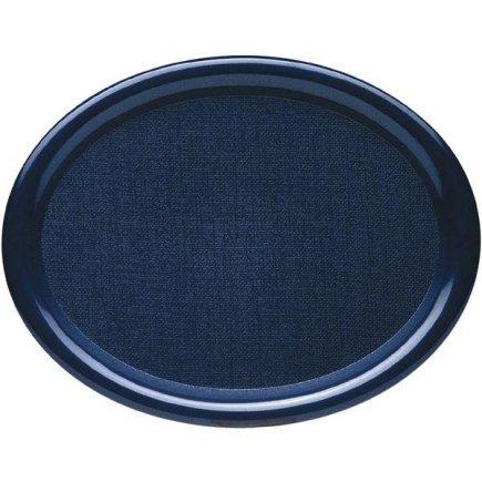 Tálca, tálca Waca ovál fényezett 26x20 cm kék