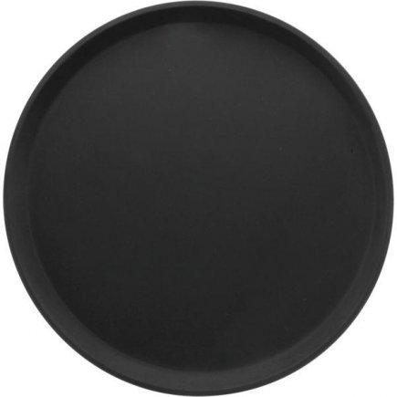 Tálca, tálca köralakú, csúszásmentes, gumírozott felület 35,6 cm fekete, Cambro