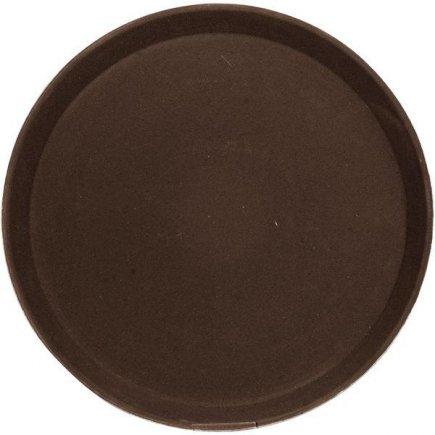Tálca, tálca köralakú, csúszásmentes, gumírozott felület 35,6 cm barna, Cambro