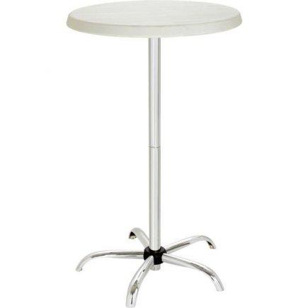 Parti asztal, műanyag, króm, súlya 9 kg, szuper összecsukható, mobil, piknik, parti, ünnep, esküvő rendezvényekhez, Gastro