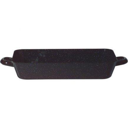 Tepsi, serpenyő, 37x22 cm Profi fekete - Riess