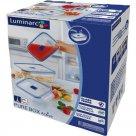 Üvegedény élelmiszer tároló Luminarc Pure Box 3 ks, téglalap alakú
