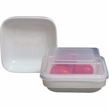 Szögletes fedő Gastro 12,5 cm, átlátszó, polikarbonát