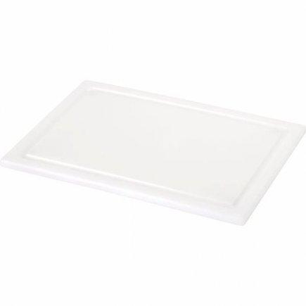 Barázdás vágódeszka Gastro 33x22 cm, fehér