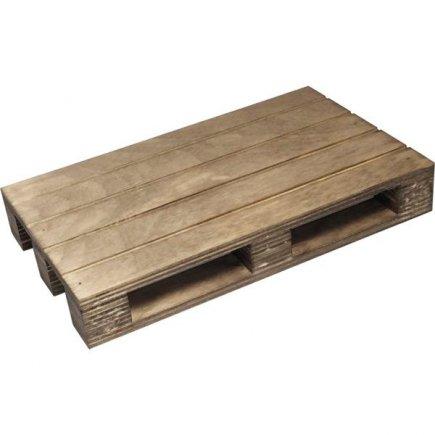Felszolgáló fa deszka raklap Vintage 20x12 cm