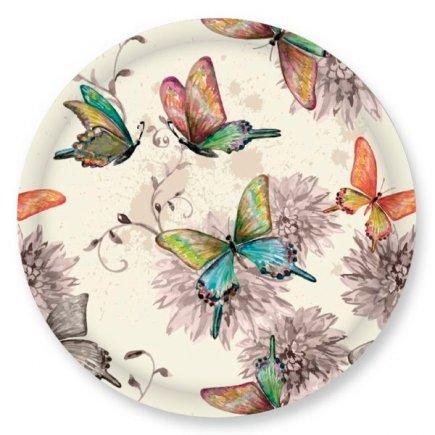 Csavarós fedél Gastro 66 mm 10 db, dekoráció pillangók