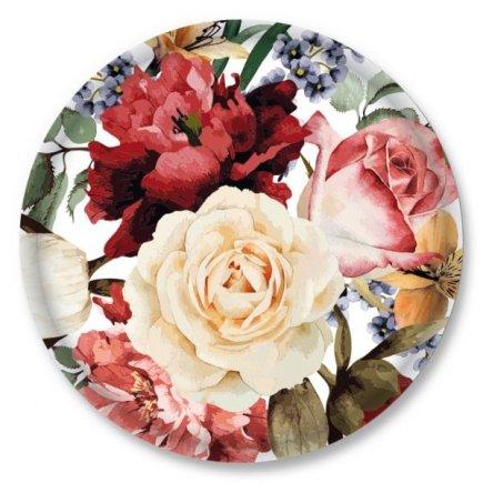 Csavarós fedél Gastro 66 mm, dekoráció rózsák