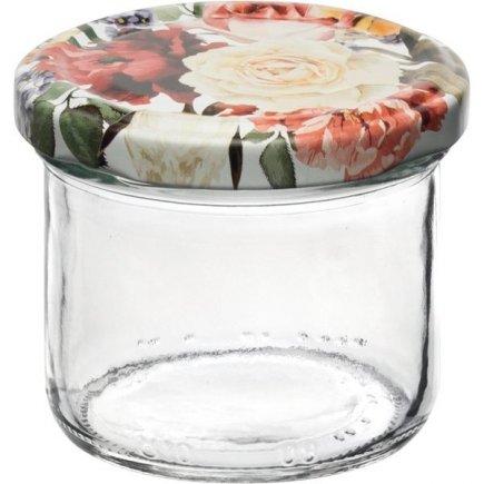 Befőző tégelyek Gastro 120 ml 6 db, fedél rózsák