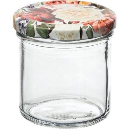 Befőző tégelyek Gastro 167 ml 6db, fedél rózsák