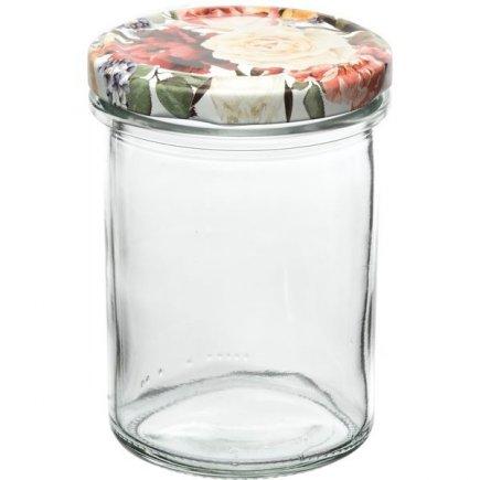 Befőző tégelyek Gastro 230 ml, magas, fedél rózsák