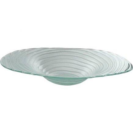 Üveg tál Gastro 40 cm, peremes