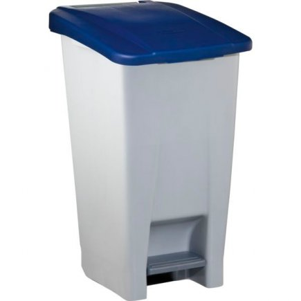 Pedálos szemeteskosár Gastro 60 l, szürke/kék