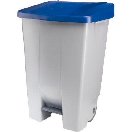 Pedálos szemeteskosár Gastro 80 l, szürke/kék