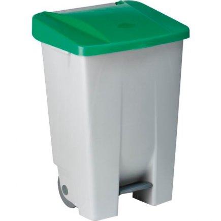 Pedálos szemeteskosár Gastro 80 l, szürke/zöld