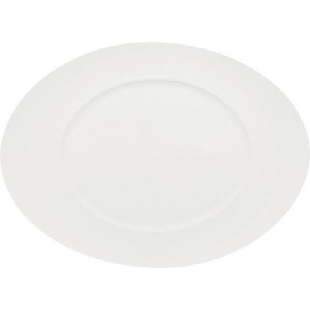 Sekély tányér 320x230 mm, ovális, porcelán, Universo modell, ESCHENBACH