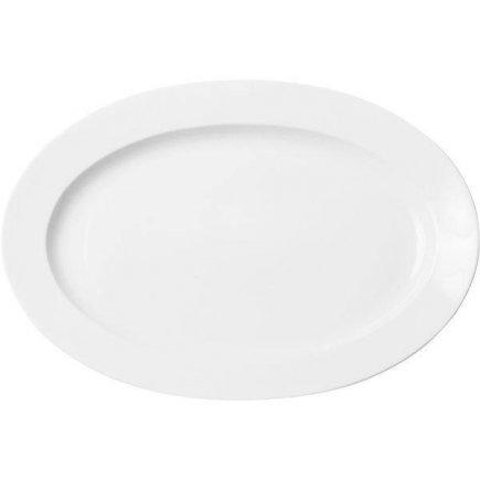 Ovális Club tányér 36x25,5 cm, porcelán, Praktik, Thun