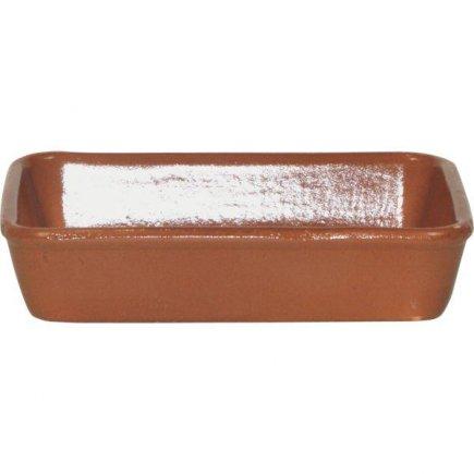 Felszolgáló lasagna tál 14x19cm barna Gastro