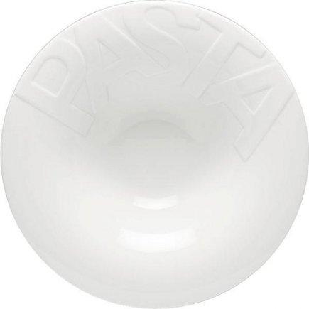 Teszta tányér 30 cm, felirattal PASTA, fehér, köralakú, Gourmet modell, Gastro
