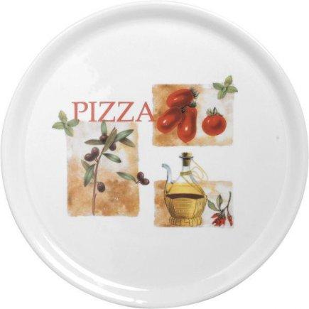 Pizza tányér 31 cm , paradacsim, oliva, Gastro
